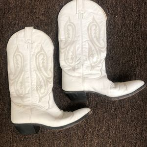 Nocona white vintage cowboy boots